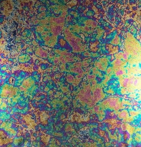 Oil Slick with Rainbow Foil fabric, Oil Slick with Rainbow Foil Spandex