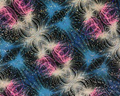 Vivid Vortex Spandex Fabric, Vivid Vortex Printed Spandex
