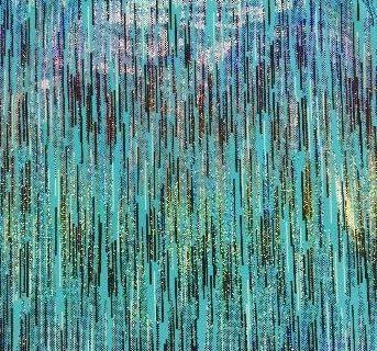Digi Storm foiled spandex, foiled spandex fabric, Blue Digi Storm Foiled Spandex Fabric