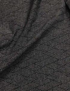 Textured Overlap - Black and Grey, textured stretchAthletic Textured Overlap Spandex, fabric, textured legging fabric