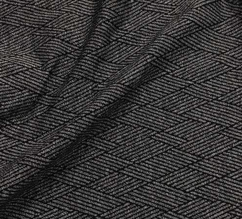 Textured Overlap - Black and Grey, textured stretchAthletic Textured Overlap Spandex, fabric, textured legging fabric