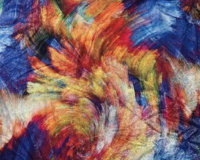 Multi Colored Vortex Foiled Spandex