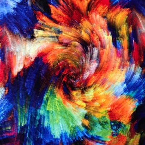 Multi Colored Vortex on Velvet