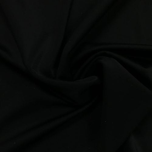 Black Matte Tricot Stretch Fabric, black matte tricot