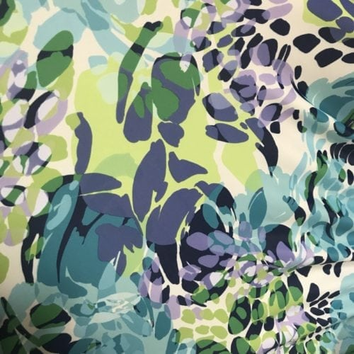 Abstract Leaves Print, Abstract Leaves Spandex Print