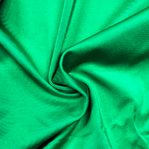 Kelly Green Shiny Tricot Spandex, green fabric, cheer fabric