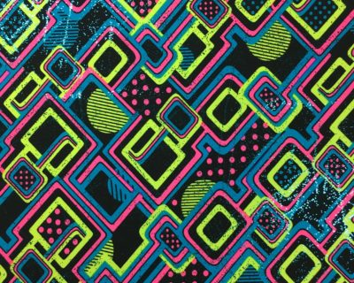 Abstract Print Spandex, Neon Print Spandex, Print and Foil fabric