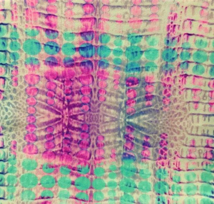 Pastel fabric, snake skin fabric, snake skin spandex