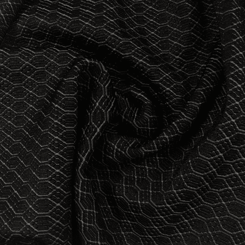 Black Textured Diamonds Spandex, black fabric, textured fabric, texture fabric