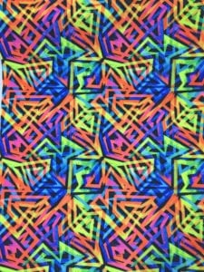 digital fabric printing, neon fabric