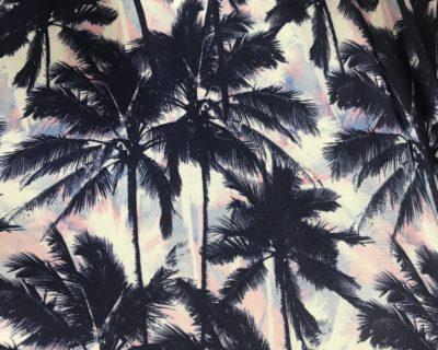 Palm Tree Fabric, Palm Tree Spandex, Hawaiian Print Fabric