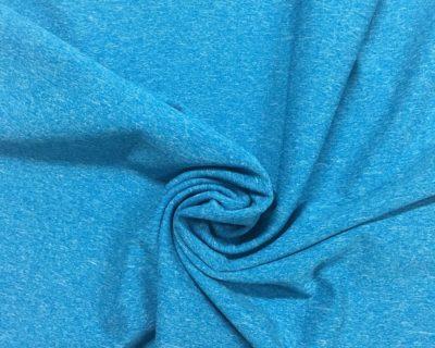 Heathered performance wear fabric, Turquoise heathered fabric, Heathered turquoise spandex