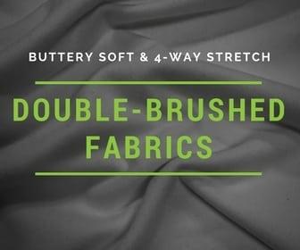 double brushed fabric, brushed fabric