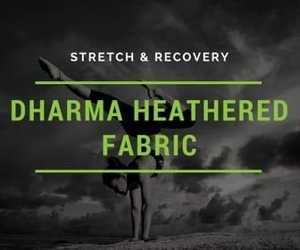 heathered fabric, yoga fabric, performance wear fabric