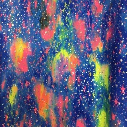 Galaxy print fabric, Solar stars print Fabric, galaxy print spandex