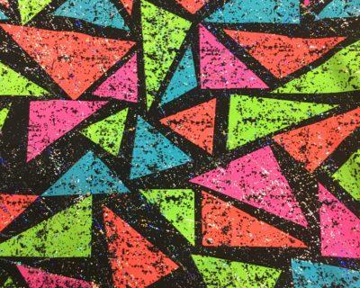 Color block triangle fabric, triangle fabric, geometric color fabric