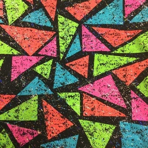 Color block triangle fabric, triangle fabric, geometric color fabric