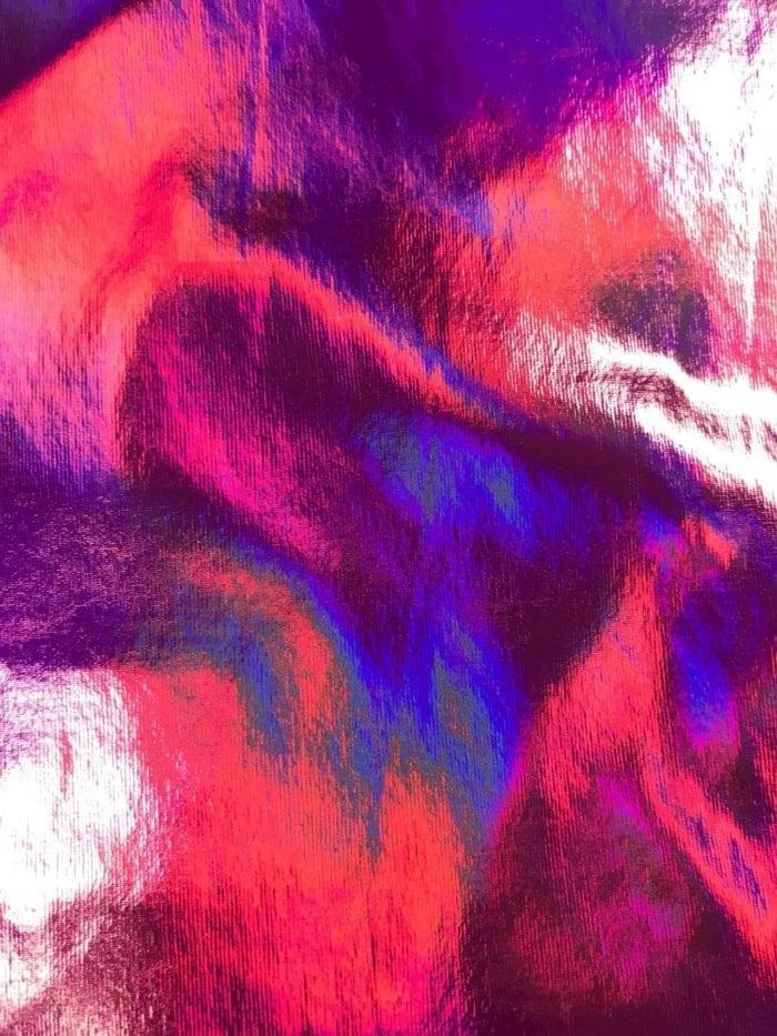 Fuchsia Liquefy Spandex, Liquid Holo Fuchsia Spandex, fuchsia hologram fabric, fuchsia hologram spandex