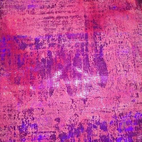 Fuschia Tie Dye Splatter Foil, pink tie dye fabric