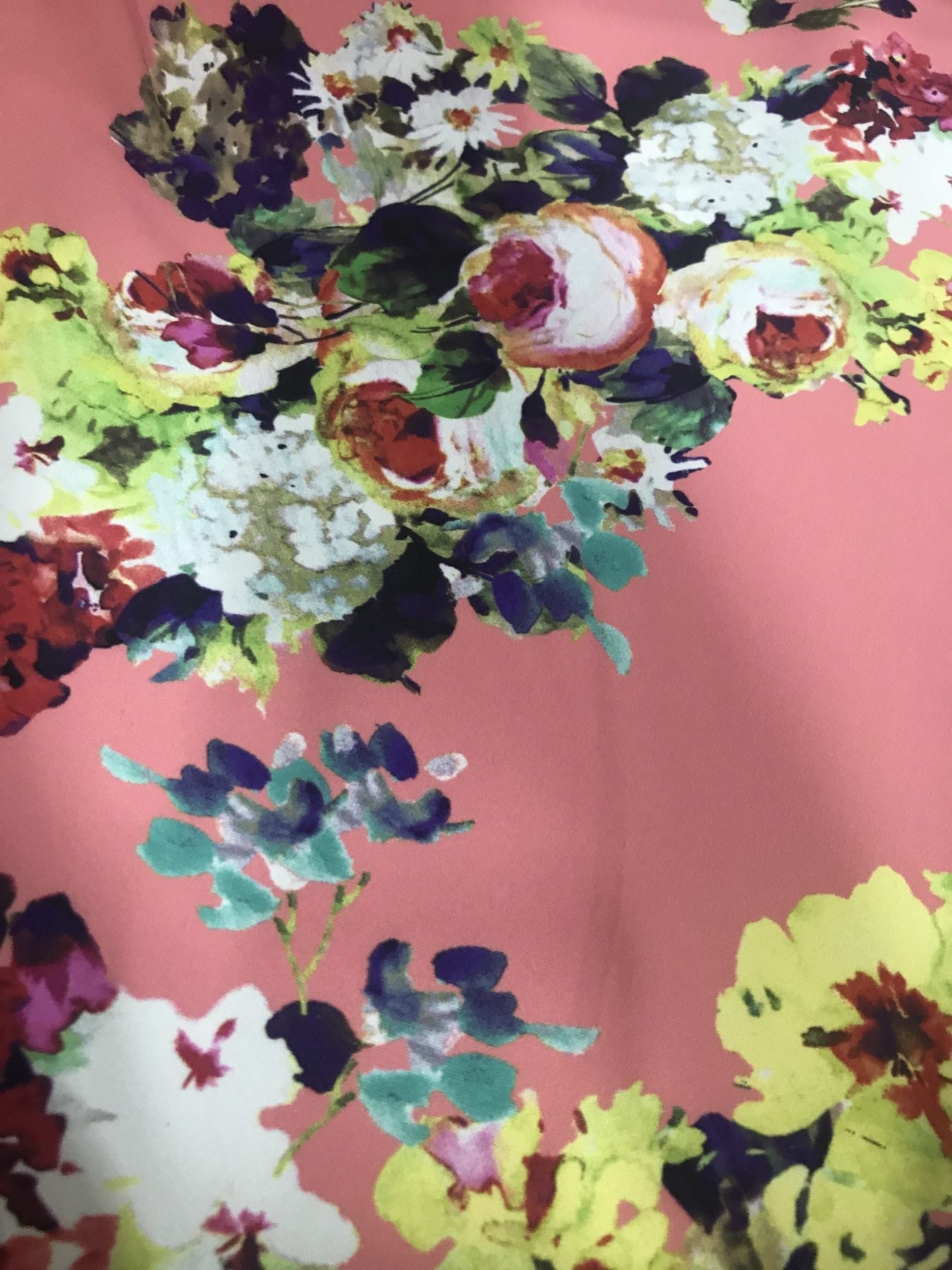 Bouquet of Florals fabric, floral swim fabric, Bouquet of Florals print spandex