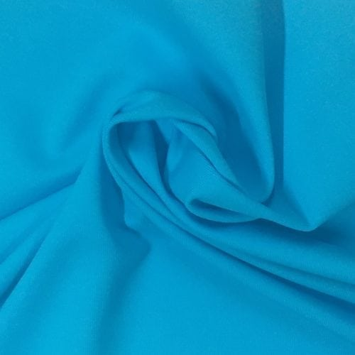 Splash Blue Tactel Spandex, blue fabric, discount fabric