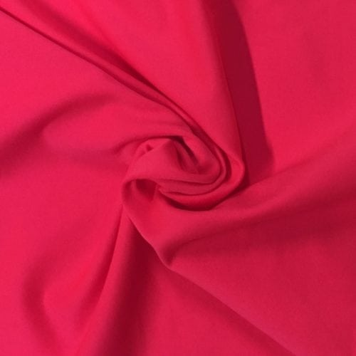 Fiery Coral Tactel Spandex, pink fabric, discount fabric