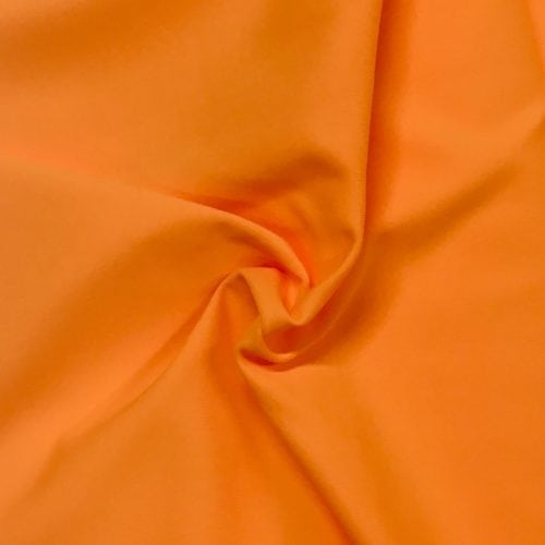 Orange Pop Tactel Spandex, orange fabric, discount fabric