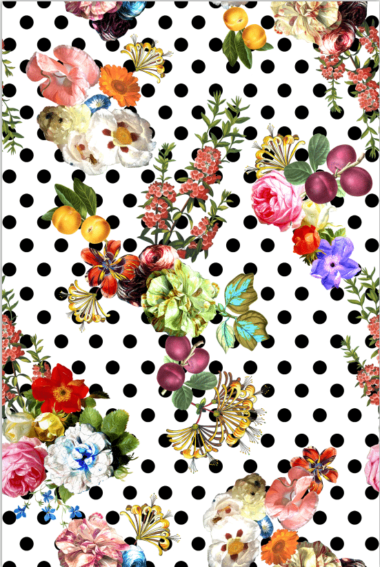 Floral Polka Dot Paper, discount fabric