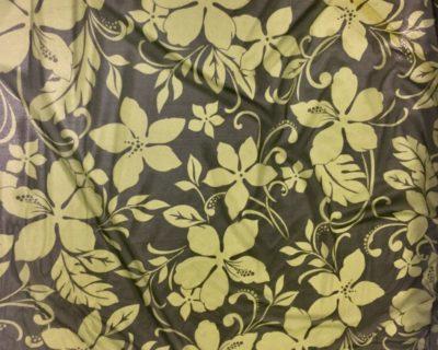 Hawaiian Sunset Olive Mesh, hawaiian mesh, floral fabric