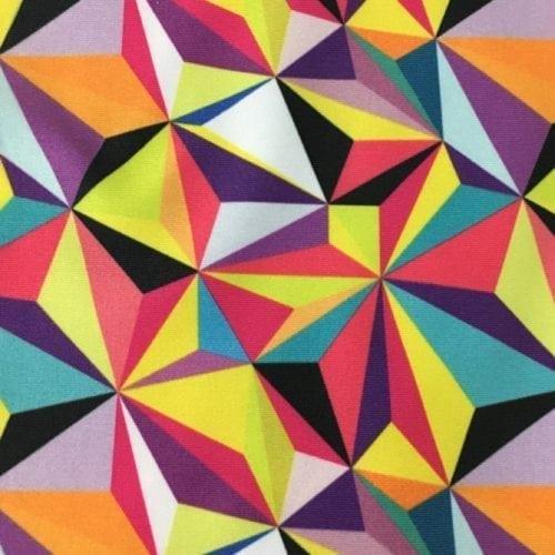 Kaleidoscope Drifit Spandex, Geometric fabric, discount fabric