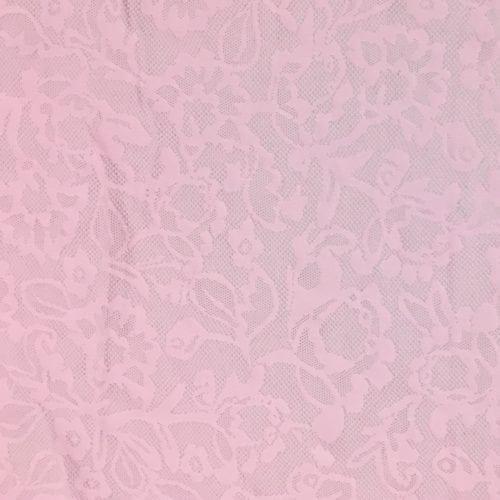 Bloom Pink Lace Mesh Spandex, Pink mesh, mesh spandex