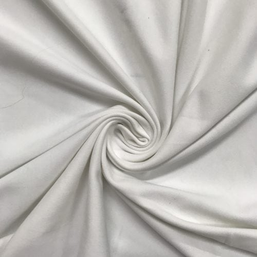White Zen Off Lot Spandex, white fabric, discount fabric