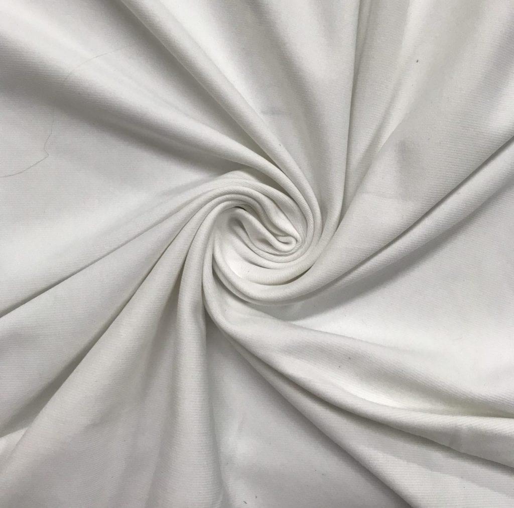 White Zen Off Lot Spandex, white fabric, discount fabric