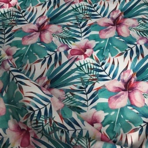 Hawaiian Tiara Spandex, Hawaiian fabric, floral fabric