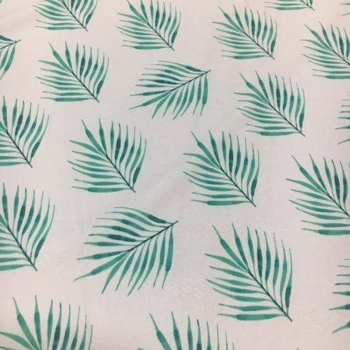 Nalani Leaf Spandex, Leaf fabric, hawaiian fabric
