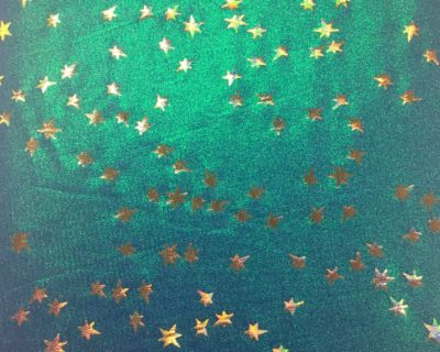 Illuminating Stars Hologram Spandex, dance fabric, star fabric