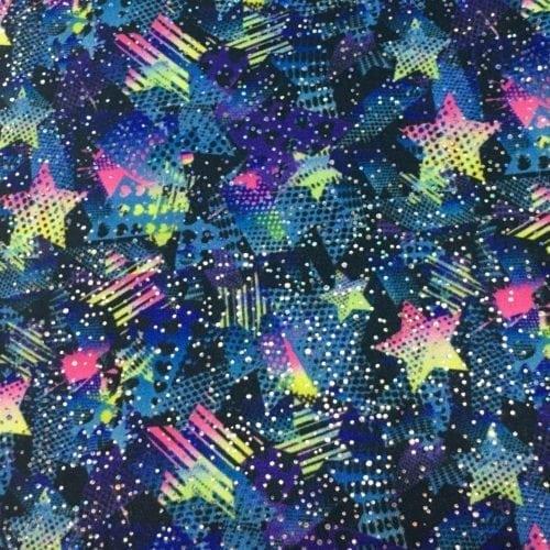 Half Tone Stars Spandex, star fabric, dance fabric