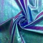 Iridescent Foil tricot Spandex, iridescent fabric, foil fabric