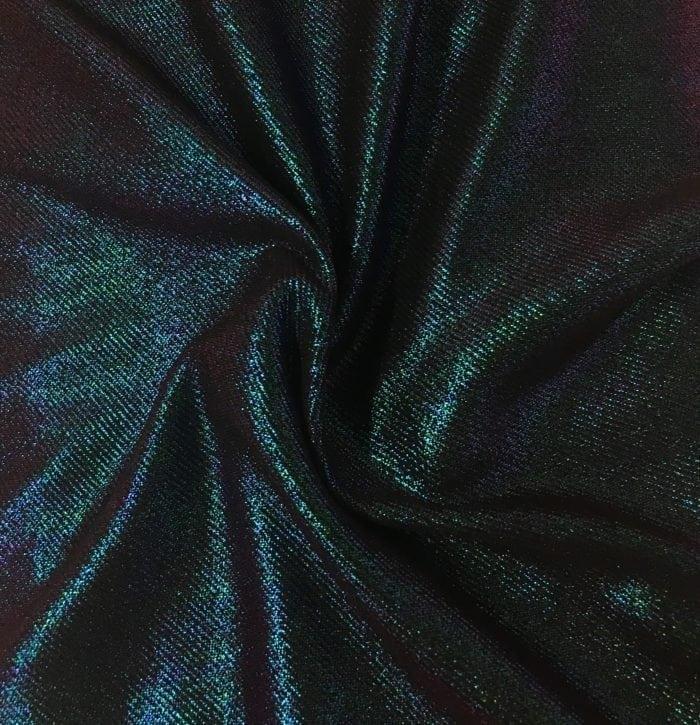 Fog Foil Twill Spandex, shiny twill fabric, shiny fabric