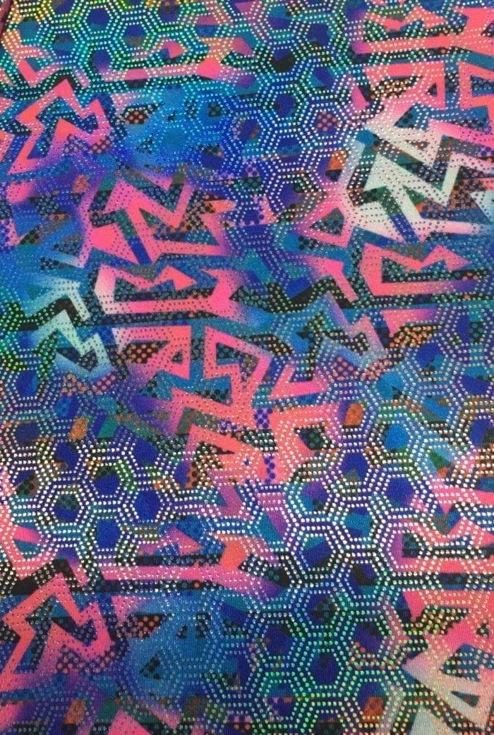 Model Shapes Foil Spandex, gymnastics fabric, dance fabric, geometric fabric