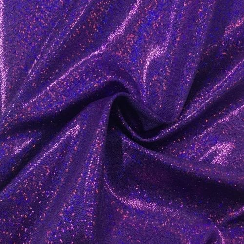 Purple Sparkly Jewels Spandex, purple fabric, purple hologram fabric
