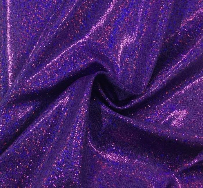 Purple Sparkly Jewels Spandex, purple fabric, purple hologram fabric