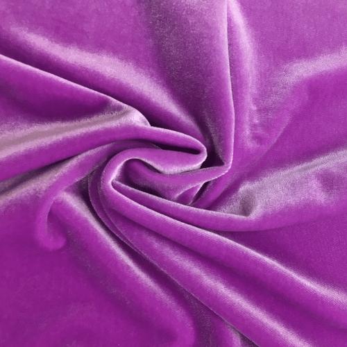 Wisteria Radiance Velvet Spandex, purple velvet, purple velvet fabric, velvet fabric, purple fabric