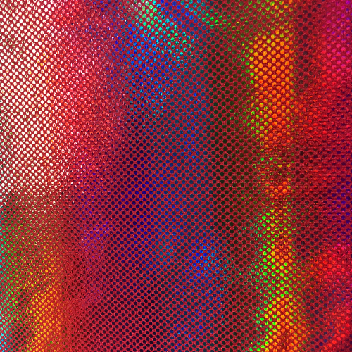 Red Rainbow Spandex, red fabric, holo fabric