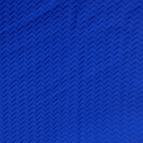 Royal Zig Zag Textured Spandex, zig zag fabric, textured fabric, texture fabric, blue fabric