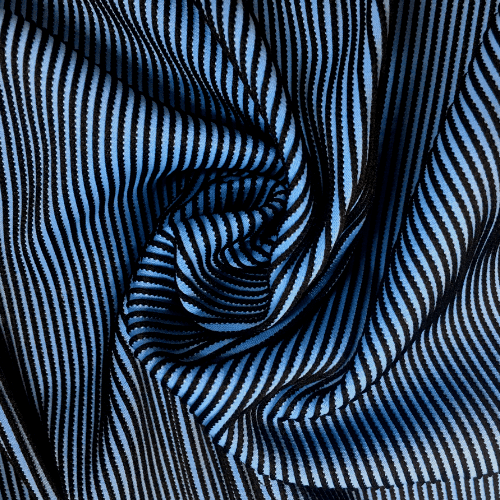 Rivera Textured Illusion Spandex, blue fabric, textured fabric, blue textured fabric