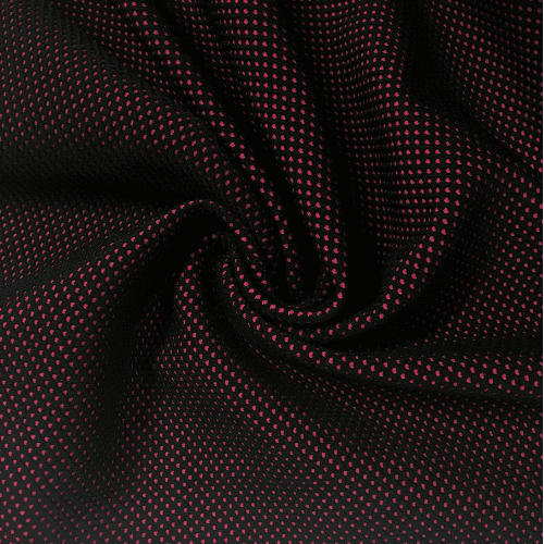 Cherry Textured Web Spandex, pink fabric, textured fabric, pink textured fabric