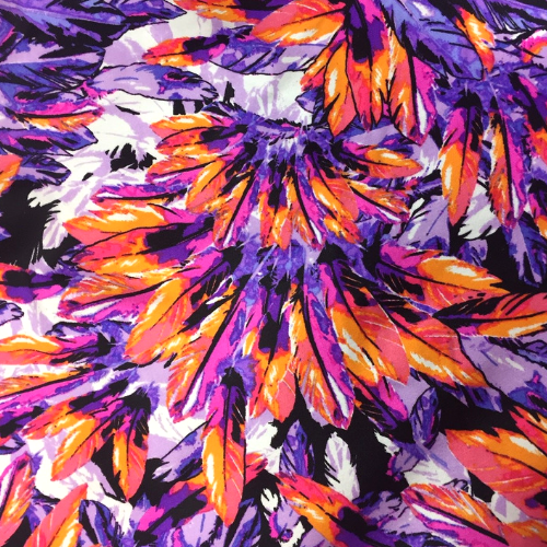 Orange Feathers Spadnex, feather fabric, dance fabric, discount fabric