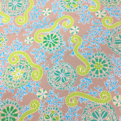 Ocean Floor Spandex, swim fabric, green fabric, discount fabric