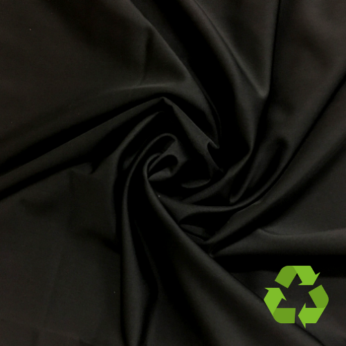 Black Virtue Repreve® Recycled Polyester Spandex, Black Virtue Repreve Recycled Spandex, recycled fabric, repreve fabric, black recyceld fabric, swim fabric, recycled swim fabric